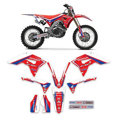 2018 2019 Honda CRF 250 Graphics Kit  HRC Racing With Number Plate Graphics