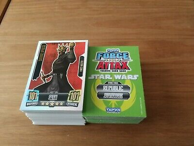 200+ Topps Star Wars Force Attax Trading Cards Series 2