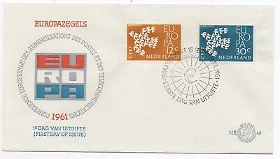 1961 NETHERLANDS First Day Cover EUROPA CEPT ISSUES The Hague Gravenhage