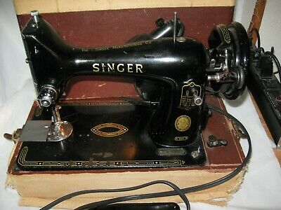 Runs Great! Vintage SINGER 99K SEWING MACHINE w/ hard case from Dry Colorado