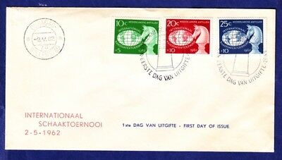 COM chess Schach Netherlands Antilles 02.05.1962 FDC first day cover