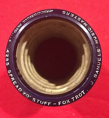 Edison Blue Amberol 4 minute Phonograph Cylinder Record 4285 Fox Trot