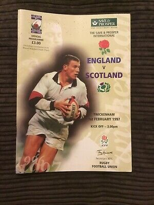 England V Scotland 1 Feb 97 Calcutta Cup 5 Nations Rugby Union Programme Q1