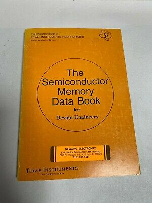 Vtg TI Texas Instruments The Semiconductor Memory Data Book Design Engineer (A3)