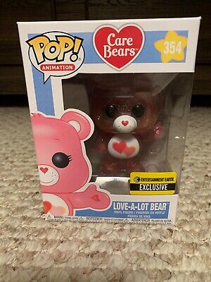 Funko Pop Care Bears Love-A-Lot Bear Entertainment Earth Exclusive Glitter