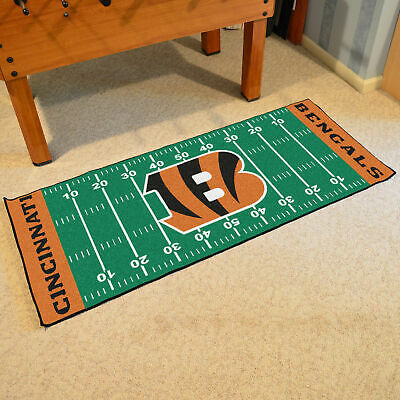 FANMATS 19939 Team Color 18 x 30 Crumb Rubber Cincinnati Bengals Door Mat