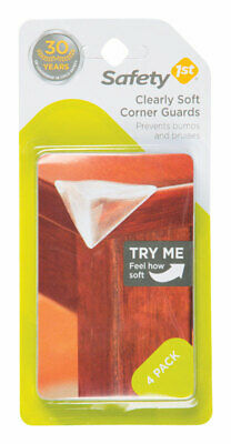 Safety 1st  Clear  Soft Rubber  Corner Bumpers  4 pk