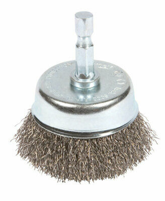 Forney  3 in. Dia. x 1/4 in.  Fine  Steel  Crimped Wire Cup Brush  1 pc.
