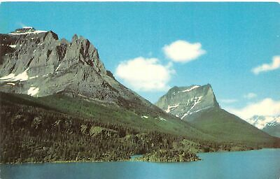 Q24-3603, St. Mary Lake, Little Chief And Citadel Mtns., Postcard.