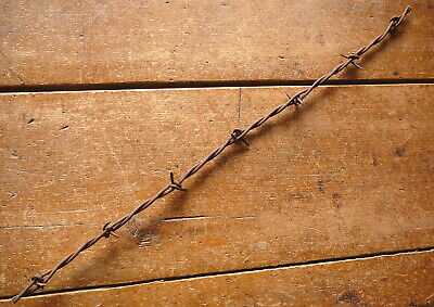 BEERS-EATON FLOP OVER or KNOT TWO POINT - CLOSE SET BARBS  - ANTIQUE BARBED WIRE