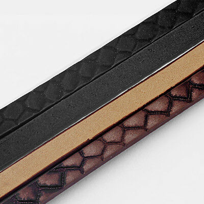 1 Meter 5*2mm Flat PU Leather Cord For DIY Jewelry Bracelet Necklace Making Rope