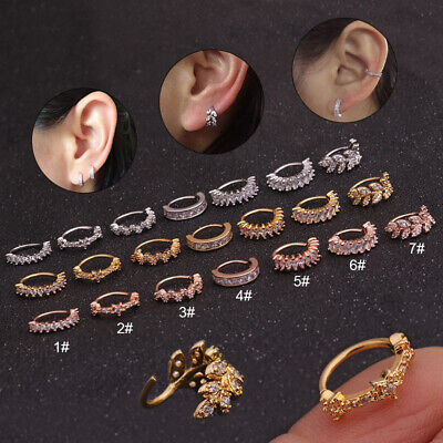 1PC Small Septum Ring Piercing Nose Ear Cartilage Tragus Helix Piercing Clicker