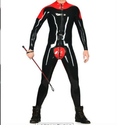 Gummi Latex Rubber Sports tight Uniform suit Party Latexanzug Zentai Kostüm