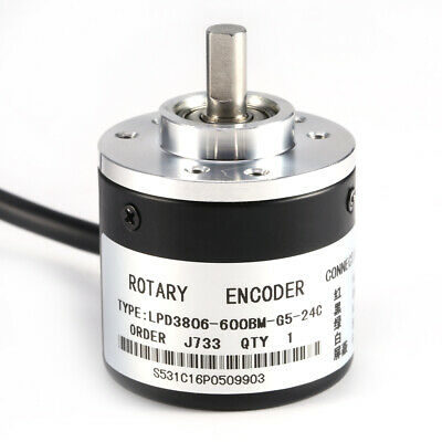 Encoder Rotativo Incrementale 600 p / r 6mm Shaft 5-24V 0-20 KHz 2 Fasi Durevole