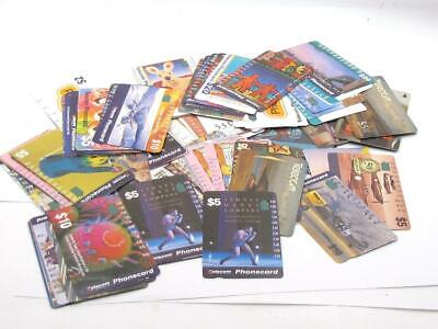 Blast from the Past Collection Lot of 100 Collectible Telecom Phone Cards 1980's