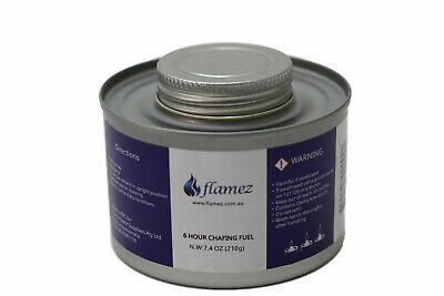 Flamez Liquid Chafing Fuel- 6Hour Cans, Pack of 4