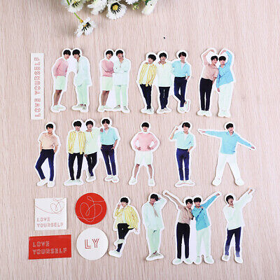 BTS Love Yourself Adhesive Photo Sticker for Scrapbook Phone DIY Stickers 18Pcs