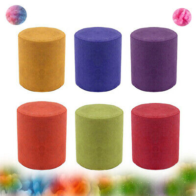 6PC Colorful Smoke Cake Show Smoke Effect Round Bomb Stage Photography Party Toy