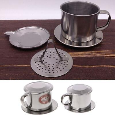 Stainless Steel Vietnamese Coffee Filter Maker Pot Infuse Cup Serving Delicious