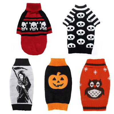 Halloween Dog Sweater Pet Knitwear Puppy Turtleneck Sweaters For Small Large Dog