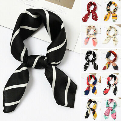 Women Ladies Elegant Vintage Head Neck Hair Tie Band Small Scarf Stylish Printed