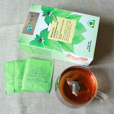 Am_ 20 Teabags Chinese Blood Uric Acid Balance Body Healthy Herbal Flora Tea Fad