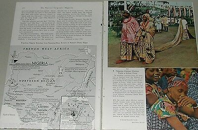 1956 NIGERIA, AFRICA magazine article, contemporary goings on, natives etc