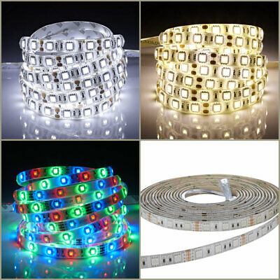 5m 12V LED Strip Lights - 3528 / 5050 - RGB / Cool / Warm White - IP20 / IP65