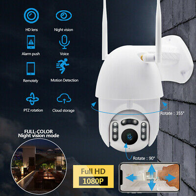 1080P Outdoor Camera HD IP66 CCTV Waterproof WiFi PTZ Security Wireless IR Cam
