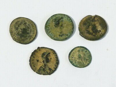 5 x Ancient Byzantine or Roman Small Bronze Coins  - diggerlee NO Reserve  #Q303