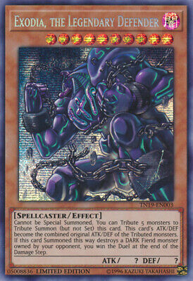 3x (M/NM) Exodia, the Legendary Defender - TN19-EN003 - Prismatic Secret Rare -