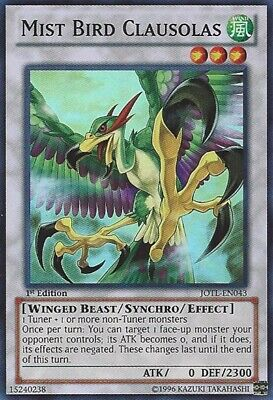 3x (M/NM) Mist Bird Clausolas - JOTL-EN043 - Super Rare - 1st Edition  YuGiOh