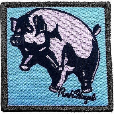 Pink Floyd Animals Inflatable Pig  iron-on/sew-on woven patch 75mm square  (ro)