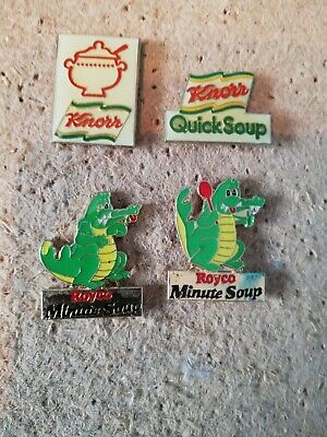 4 Pin's Pins crocodile Royco minute soup soupe marque knorr