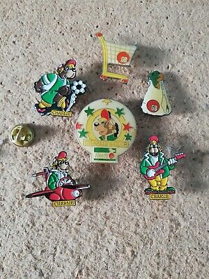 6 Pin's Pins Charlie GB teddy bear ours shopping
