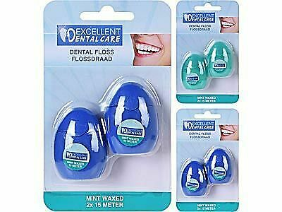 Excellent Dental Care  2x 15 Meter Flosdraad Set