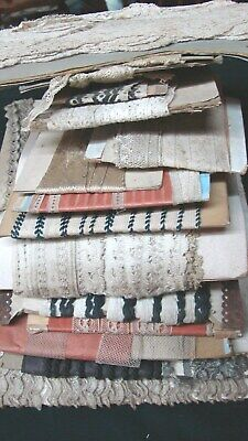 LOT NOS ANTIQUE VICTORIAN EARLY 1900s LACE EDGING TRIM old store stock