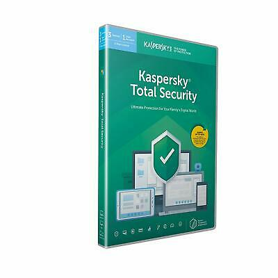 New Kaspersky Total Security 2020 3 Devices 1 Year PC Mac Android Email Key EU