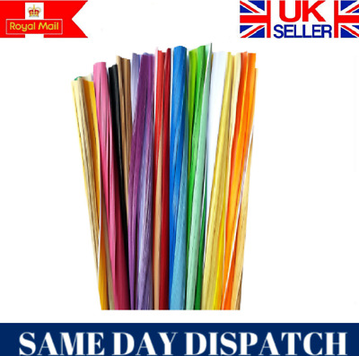1mm Quality Quilling Paper 4400 strips 44 colours RED PURPLE YELLOW PINK GREEN