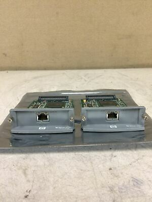 LOT OF 2 HP Jet Direct 620N J7934A 10/100tx Print Server Card WORKING FREE SHIP