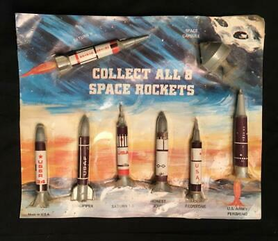 Vintage 1960'S Space Rocket Set Including The Apollo Space Capsule Old Stock