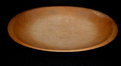 "HUGE Antique WOOD Trencher DOUGH BOWL 21"" L X 11"" W  VERY NICE Patina"