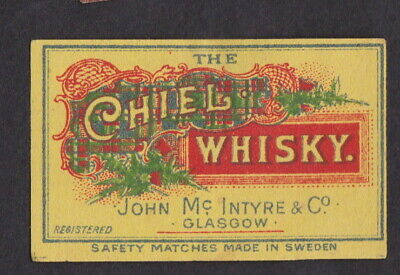 AE Old  Matchbox label Sweden LLLLL24 The Chiel Whisky