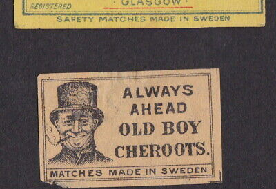 AE Old  small Matchbox label Sweden LLLLL25 Boy Cherouts