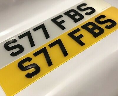 4D Number Plates 3D 4D Laser Cut Number Plate Pair Front Rear Road Legal New