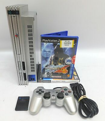 SONY Playstation 2 PS2 Console In Silver Bundle With 2 Games TEKKEN 4 - C29