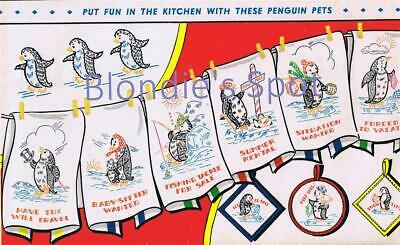 Hand Embroidery Transfer 668 Angels for Days of the Week dish towels potholders