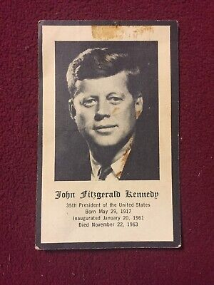 Vintage White House President John Kennedy JFK Prayer Card