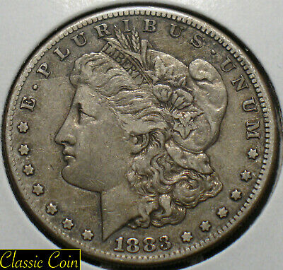 1883-S  Morgan Silver Dollar $1 XF Details  90% Silver Tougher Date