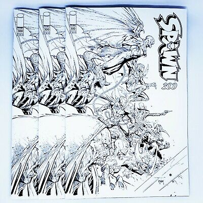 SPAWN 300 COVER P JEROME OPENA B&W SKETCH VARIANT NM TODD McFARLANE
